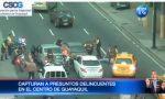 Imágenes de captura a presuntos delincuentes en vía principal de Guayaquil