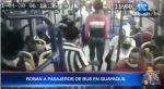 Roban a pasajeros de bus en Guayaquil