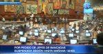 La sesión legislativa para elegir a las autoridades se retomará este sábado