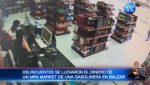 Delincuentes armados roban en una gasolinera