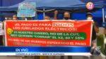 Jubilados de la Empresa Eléctrica de  Guayaquil protestan por falta de pagos