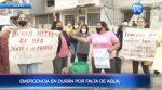 Moradores de Durán realizan manifestaciones por falta de agua