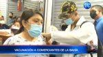 Empezó proceso de vacunación a comerciantes de la Bahía