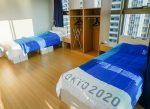 """Atletas hicieron la prueba y saltaron en la cama """"antisexo"""" en Tokio"""