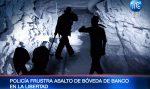 Delincuentes cavan túnel para robar banco en Santa Elena