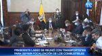 Presidente Lasso, se reunió con transportistas para definir situación de combustibles en Ecuador