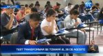 """Test """"Transformar"""" se tomará el 26 de agosto"""