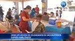 Más de 15.000 personas se vacunaron en el Malecón 2.000 durante el fin de semana