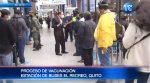 Realizan proceso de vacunación en estación de buses en Quito