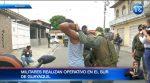 Militares se toman las calles: realizan controles para atrapar delincuentes