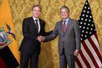 El presidente Lasso se reunió con el secretario de Estado de EE.UU.