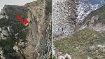 VIDEO   Así rescatan a un hombre atrapado en medio de un acantilado