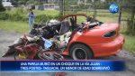 VIDEO | Una pareja murió tras un choque entre un auto y un bus en la vía Tres Postes-Jujan