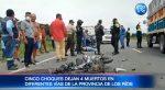 Cinco choques dejan 4 muertos en diferentes vías de provincia de Los Ríos