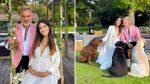 Gianluca Vacchi y su novia Sharon Fonseca realizaron un lujoso baby shower