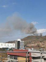FOTOS | Incendio forestal detrás de la Ciudad Deportiva Carlos Pérez Perasso