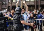 Impactantes fotos de los incidentes durante despedida a Maradona en Argentina