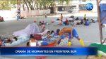 VIDEO | Migrantes viven en condiciones deplorables en calles y plazas de Huaquillas