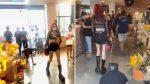 VIDEO | Mujer se pasea por supermercado con un hombre atado como perro