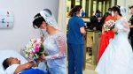 """""""Hija, estás aquí"""": visita a su madre en el hospital justo antes de su boda"""
