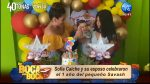Sofía Caiche celebró el primer cumpleaños de su bebé
