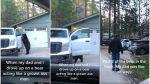 VIDEO | Un oso se metió dentro de una camioneta y casi la enciende